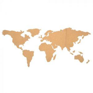 carte du monde retro en liege vintage