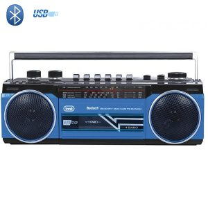 Radio Cassette Bluetooth bleu
