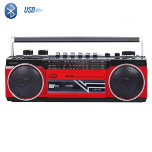 Radio Cassette Bluetooth Rouge boombox