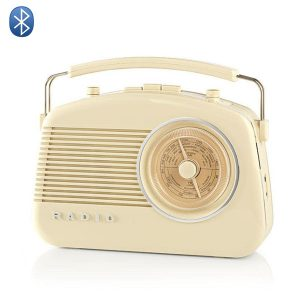Radio fm bluetooth retro vintage creme