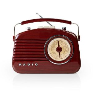 Radio fm retro vintage rouge