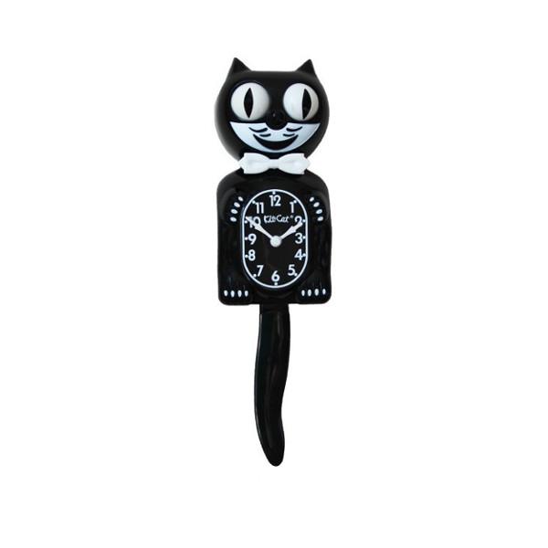 Mini horloge Kit-Cat noire