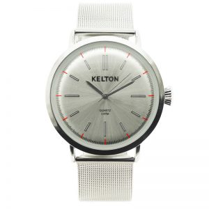 montre kelton metalic chrome