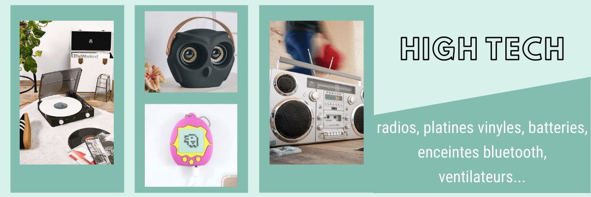 categorie high tech horloges radio enceintes retro